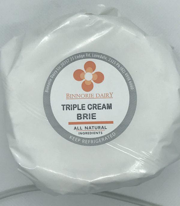 Luscious creamy triple cream brie