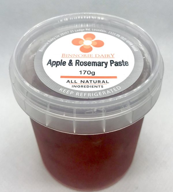 Apple rosemary paste cheese condiment sweet